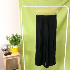 SPORTSGIRL BLACK WIDE LEG PANTS
